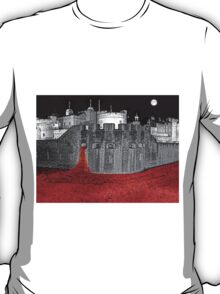 Poppies By Moonlight. T-Shirt