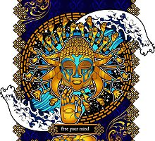 Free Your Mind: Multicultural Buddha  by Qontez George