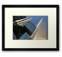 Gold, Black and Blue Geometry - Royal Bank Plaza Framed Print