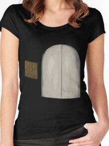 Glitch Apartment Interior signpost asset elevator noBG Women's Fitted Scoop T-Shirt