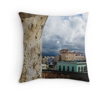 Caribbean Colors of San Juan, Puerto Rico From a Window of San Cristobal Castle Throw Pillow
