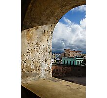 Caribbean Colors of San Juan, Puerto Rico From a Window of San Cristobal Castle Photographic Print