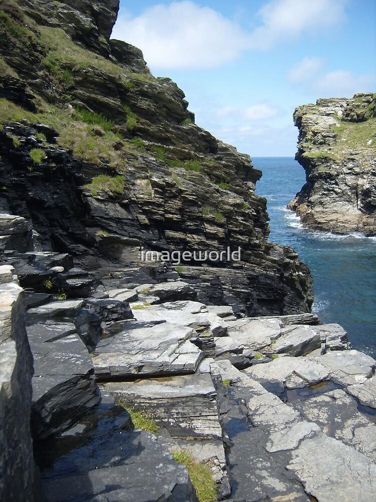 Rugged Cornish Coastline by imageworld