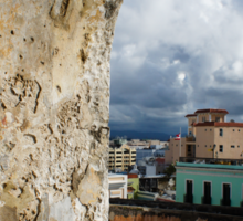 Caribbean Colors of San Juan, Puerto Rico From a Window of San Cristobal Castle Sticker
