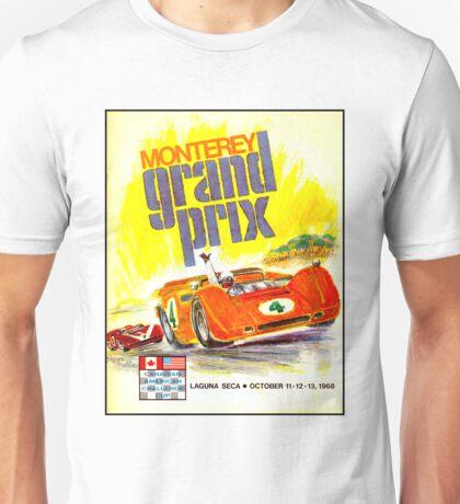 MONTEREY; Vintage Grand Prix Auto Advertising Print Unisex T-Shirt