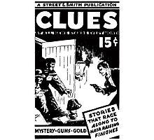 Street & Smith's Clues Detective Magazine ad Photographic Print