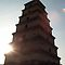 big goose pagoda with sun by samc352