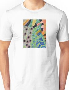 Curves and Patterns with Red Light Bulb  Unisex T-Shirt