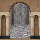 waterfall through an archway by samc352