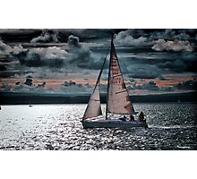 Red Sails In The Sunset Photographic Print