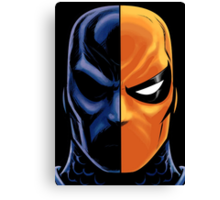 deathstroke mask Canvas Print