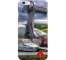 Boats at the Falkirk Wheel iPhone Case/Skin