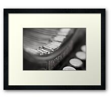 The Old Typewritter II Framed Print