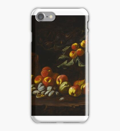 Anthony Oakshott  STILL LIFE OF PEACHES, PEARS, QUINCE, FIGS, MELON AND OTHER FRUIT iPhone Case/Skin