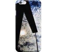 Clouds reflected in a building iPhone Case/Skin