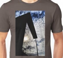 Clouds reflected in a building Unisex T-Shirt