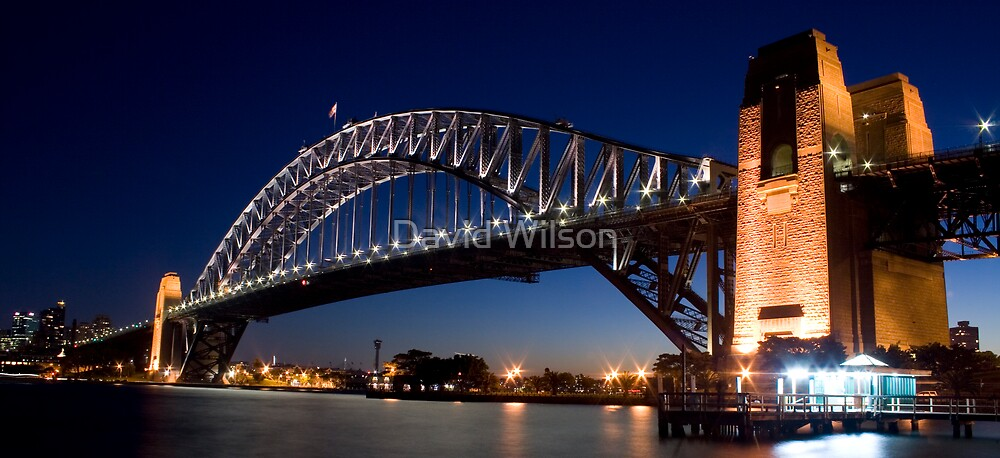 Bridge by Night by David Wilson