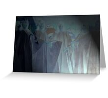 Spotlight on ghosts, on Friday 13th.  Greeting Card