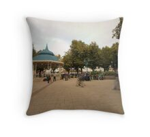Plaza Valdivia Chile Throw Pillow