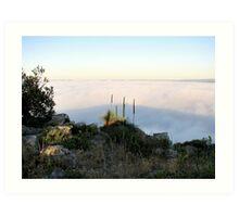 Fog Blanket - Mount Barker Art Print