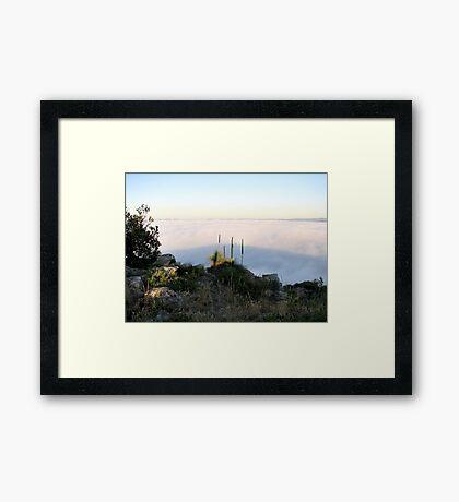 Fog Blanket - Mount Barker Framed Print