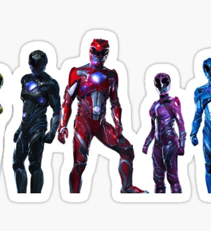 Power Rangers Movie - Together We Are More Sticker