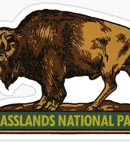 Grasslands National Park Saskatchewan Vintage Travel Decal Sticker
