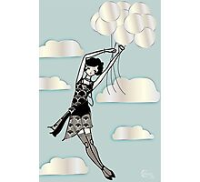 Floating Flapper Photographic Print
