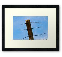 wire sky Framed Print