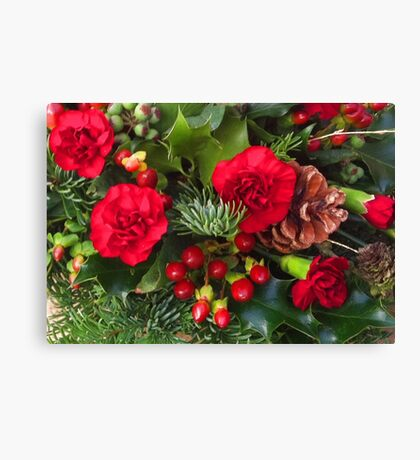 Christmas in Red Canvas Print