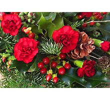 Christmas in Red Photographic Print
