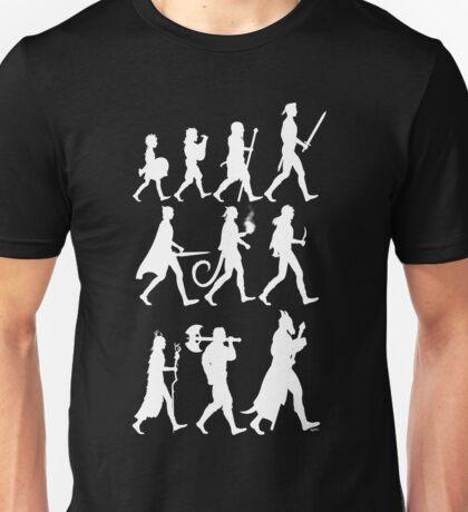 RPG Races Chart - White Unisex T-Shirt