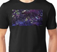 Swirling Storms in Purple Tones Design Unisex T-Shirt