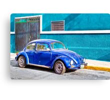 Love Bug On The Streets Of Mexico Canvas Print