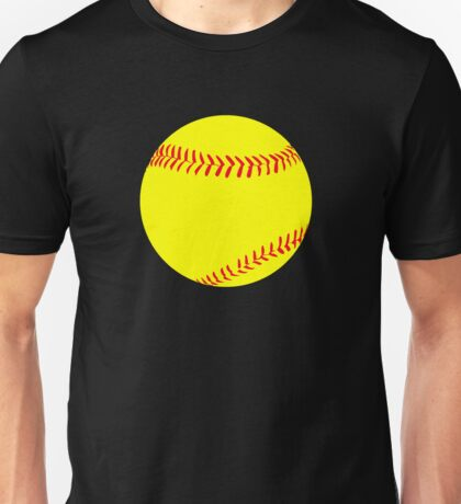 Yellow Fastpitch Softball Graphic Unisex T-Shirt