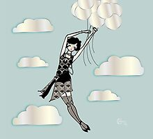 The Floating Flapper...1920s Gatsby Girl by CecelyBloom