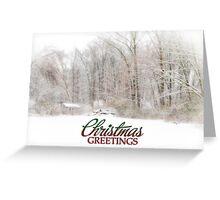Christmas Greetings Greeting Card