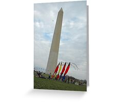 National  Monument  on kite day Greeting Card
