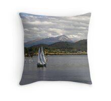Sailing on Lake Te Anau Throw Pillow