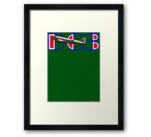 DC3 (75 Years In The Air) T-shirt Design Framed Print