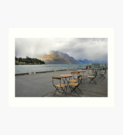 Heavy Cloud over Lake Wakatipu Art Print