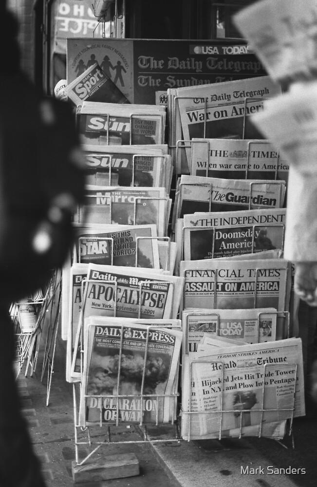 Newspapers London September 12 2001 by Mark Sanders