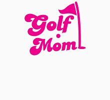 GOLF mom with flag and golf ball Womens Fitted T-Shirt