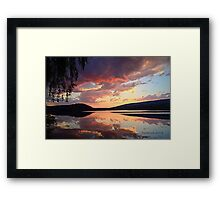 sunset @ the enchanted willow Framed Print