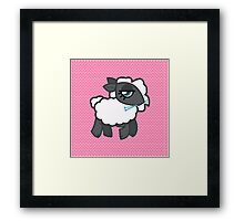 Knitting Sheep Framed Print