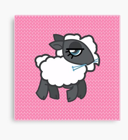 Knitting Sheep Canvas Print