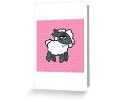 Knitting Sheep Greeting Card