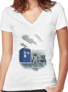 Dr. Interstellar Women's Fitted V-Neck T-Shirt