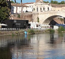Tiber Island in Rome by iristudiophoto