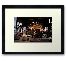 Uncle Jed on stage, Darling Harbour 2010 Framed Print